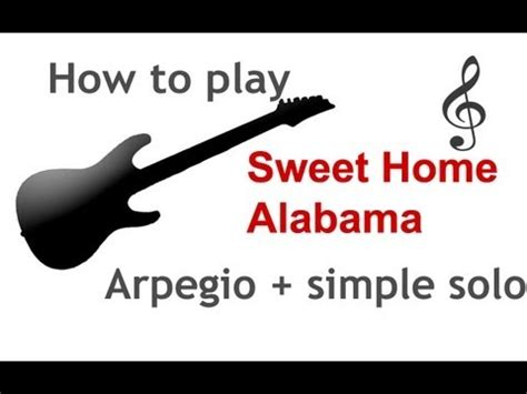riff simple of sweet home alabama on the