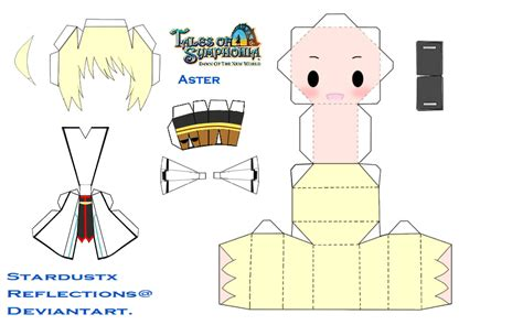 Chibi Papercraft Maker - chibi aster papercraft by stardustxreflections on deviantart