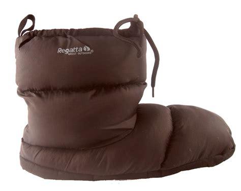 warm slipper boots mens regatta warm padded slippers boots black
