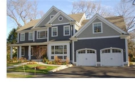 slate blue house slate blue with gray top white trim i like this combo home stuff pinterest