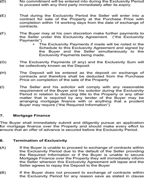 exclusivity agreement template free exclusivity agreement template for free page 3