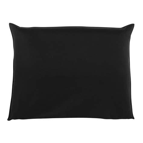 fodera testata letto fodera di testata da letto nera 140 cm soft maisons du monde