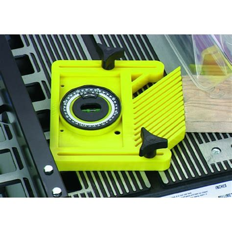 feather board table  router miter slot angle finder