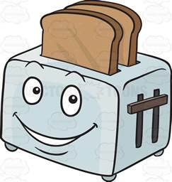 How To Make Toast Without A Toaster Cartoon Clipart Happy Toaster Popping Out Breads Emoji