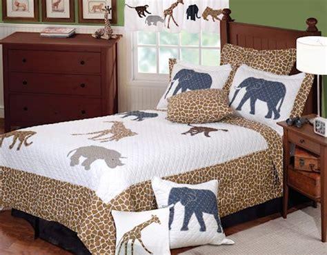 kids animal print bedding twin fullqueen quilt sets brown white jungle safari giraffe