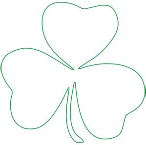 Shamrock Outline Clipart by Totetude Shamrock Outline Clip At Clker Vector Clip Royalty Free
