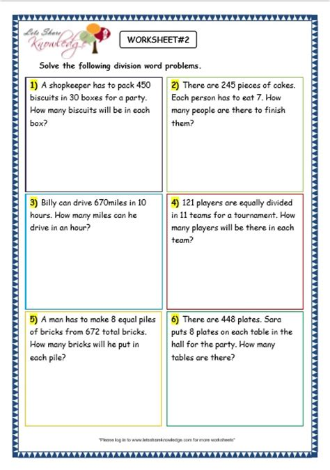 Division Word Problems Worksheets by Division Worksheets 187 Division Worksheets For Grade 5 Word
