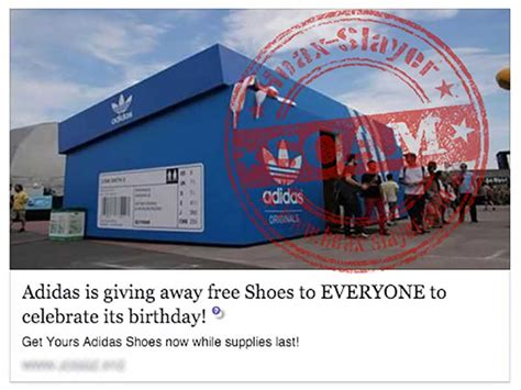 no adidas is not giving free shoes to everyone who clicks a facebook post hoax slayer - Adidas Giveaway Scam