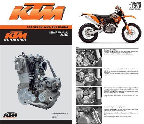 Ktm 525 Motor Ktm 250 400 450 520 525 Sx Mxc Exc Racing Service Repair