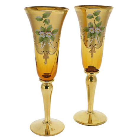 3 Vases Set Murano Glass Goblets Set Of Two Murano Glass Champagne