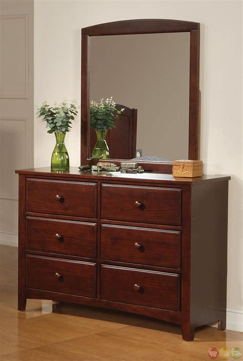 parker bedroom furniture parker brown cherry finish twin panel bedroom furniture group