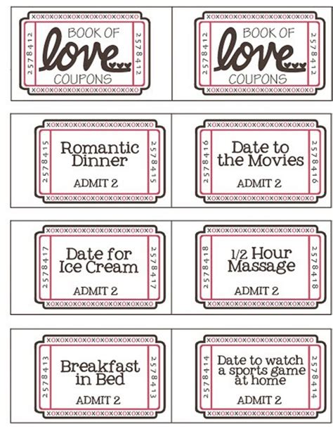 valentines day coupons free valentine s day coupon booklet