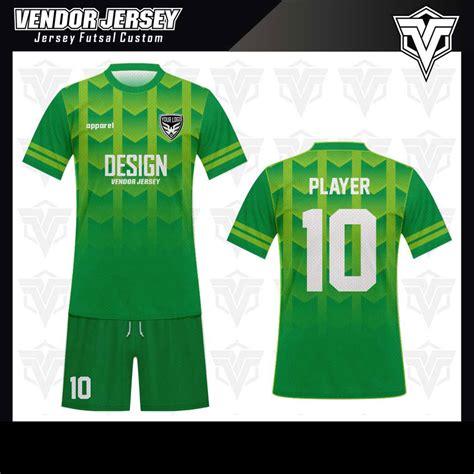 desain baju futsal hijau stabilo koleksi desain jersey futsal 04 vendor jersey bekasi