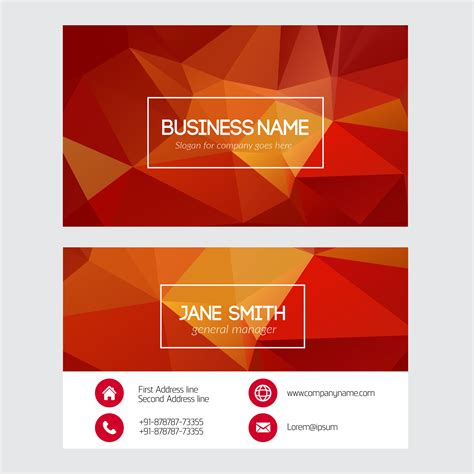 triangle shaped business card template free vector triangular business card free