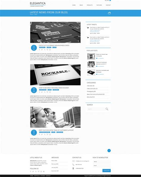 templates for blog website freebie blog template for business theme psd