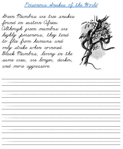 free printable handwriting worksheets with sentences 6 best images of free cursive writing worksheet printables