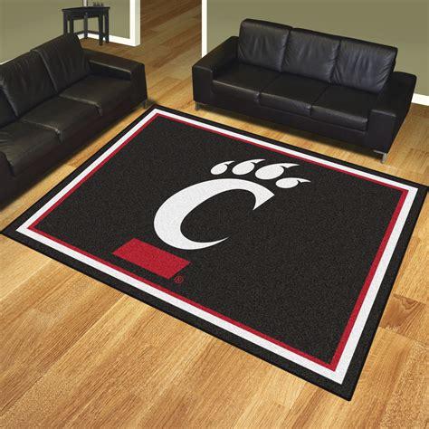 area rugs cincinnati of cincinnati bearcats area rug 8 x 10