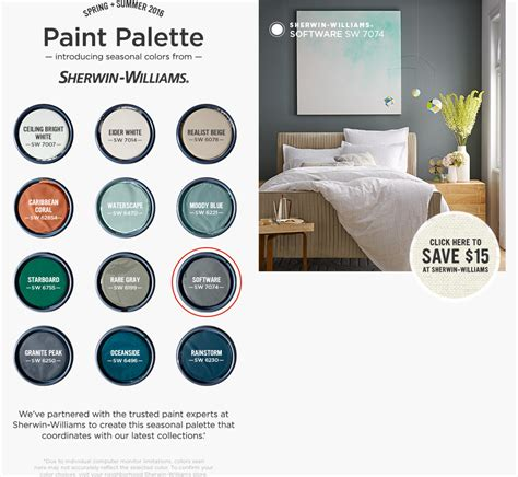 seasonal colors from sherwin williams west elm