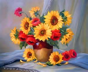 paintings of flowers flower painting 28 sunflower flower paintings