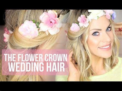 Wedding Hairstyle   Flower Crown Hair Tutorial   YouTube