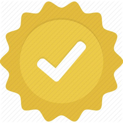 Verified Search Badge Check Gold Verified Yellow Icon Icon Search Engine