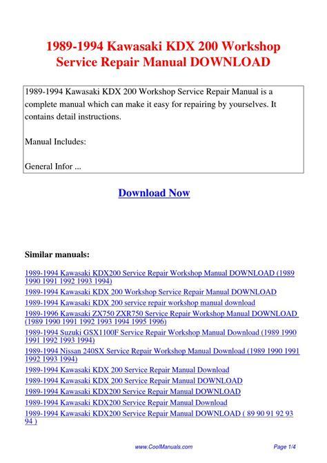 1989 1994 kawasaki kdx 200 service repair workshop manual download 1989 1994 kawasaki kdx 200 workshop service repair manual pdf by suu lin issuu