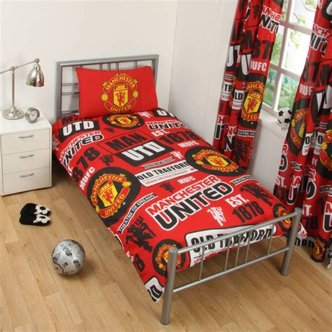 manchester united bedding manchester united fc single and double duvet cover sets
