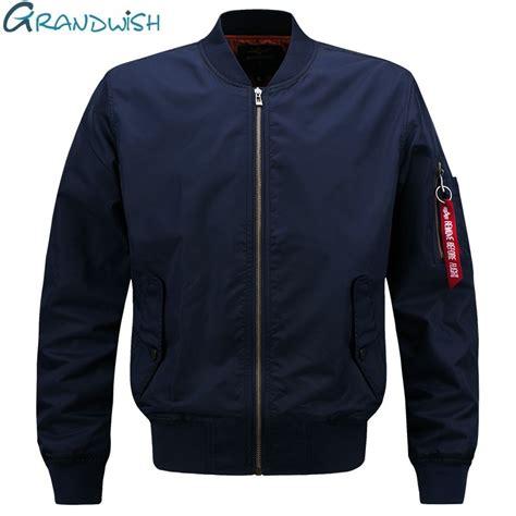 design jaket bomber grandwish 2017 spring pilot bomber jacket men patch design