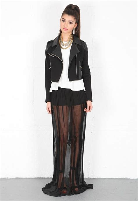 Chika Maxi Cardi cailin maxi skirt in black ropa con