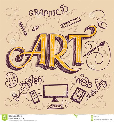 drawing vector graphics hand lettering art hand lettering typography card stock vector