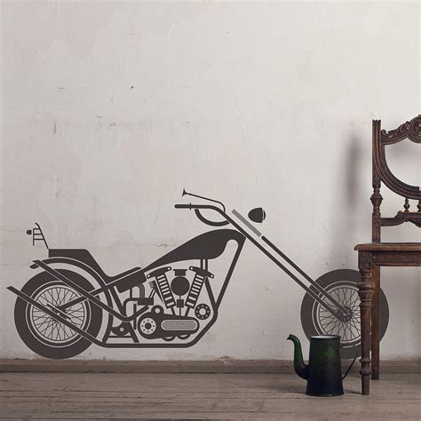 motorbike wall stickers vintage motorcycle wall sticker decal by snuggledust studios notonthehighstreet