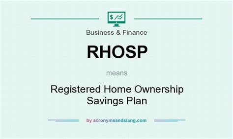 what does rhosp definition of rhosp rhosp stands