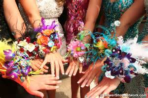 corsage colors prom inspiration funky style