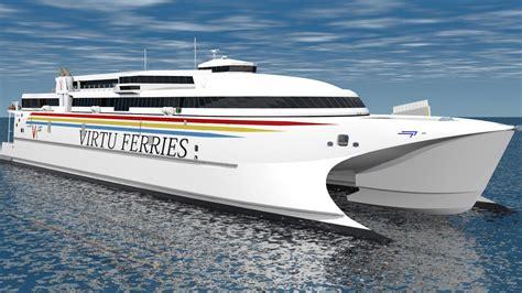 catamaran ferry malta rolls royce uses mtu propulsion for biggest high speed