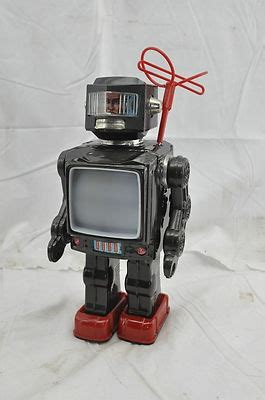 Vintage Antique Horikawa Space Explorer TV Robot Japan Tin