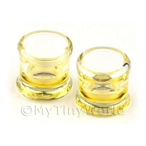 Handmade Whiskey Glasses - dolls house miniature glassware dolls house miniature