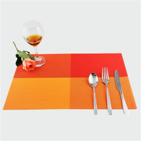 aliexpress com buy ggomi kitchen dining bar 7 quot kitchen good quality pvc waterproof dining table mats plaid