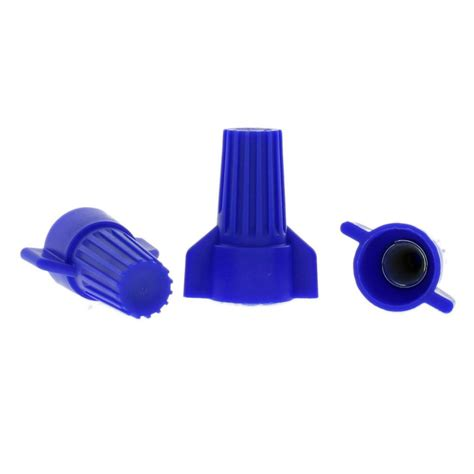commercial electric winged wire connectors blue 4 pack
