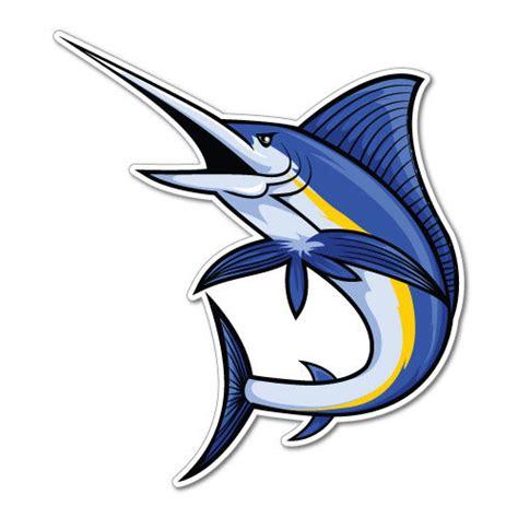 sailfish boat emblem marlin fish sticker decal boat fishing tackle 4x4 6637en