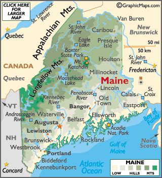 maine and canada map maine map geography of maine map of maine worldatlas