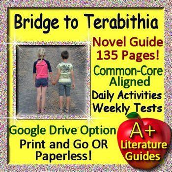 bridge to terabithia novel study guides for the teacher 43 best bridge to terabithia activities images on