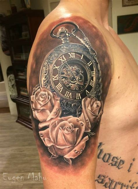 pocket watch and roses tattoo 19 pocket images pictures and ideas