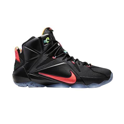 Sepatu Basket Lebron 12 jual nike lebron 12 vision hitam orange sepatu basket harga kualitas terjamin