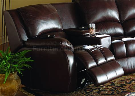 home theater sofa recliner red leatherette home theater brown leatherette home theater sectional w motorized recliners
