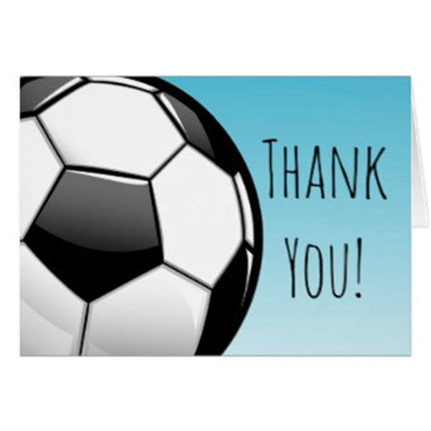 Football Thank You Card Template Free by Soccer Gifts On Zazzle