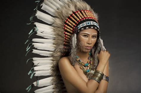 native american indian stock image image of