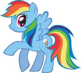 Rainbow dash as she appears on the show