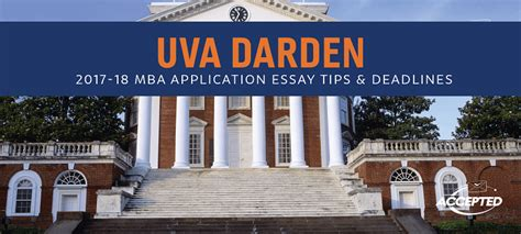 Georgetown Mba Admissions Deadlines by Uva Darden Mba Essay Tips Deadlines The Gmat Club