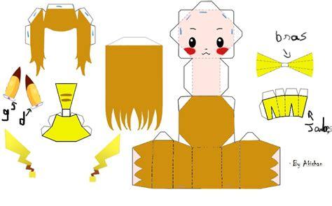Pikachu Papercraft Template - free crafts pikachu