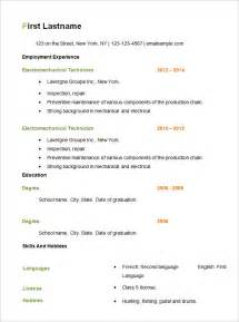 simple resume template free open office resume template basic resume templates